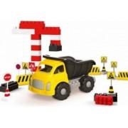 Camion si cuburi de construit DOLU 40 piese Multicolor