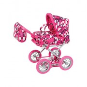 Knorrtoys Knorr Toys Knorr63194 Combi Ruby Crazy Squares Dolls Pram and Buggy