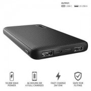Външна батерия TRUST Primo Fast Ultra-thin Powerbank 10000 mAh, micro-USB/USB-C, черен, 23595