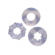 RudeRider [3 Pack] Soft Cock Rings Clear