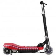 vidaXL Електрически скутер с LED, 120 W, червен