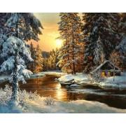 Gaira Malování podle čísel Zimní les M99319