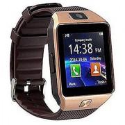 DZ09 Gold Bluetooth Sim Memory Card Slot Camera Fitness Tracker Smartwatch