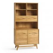 Oak Furnitureland Natural Solid Oak Dressers - Small Dresser - Ellipse Range - Oak Furnitureland