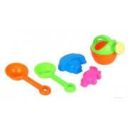 Premsons Beach Toy Set, Summer Beach Fun Activity, 5 Piece Beach sand Toy Set Comes with Watering Bucket, Molds , Shovels etc. will keep your child motivated for hours, colors may vary