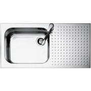 Chiuveta BARAZZA Select 1IS10060/1D 100x50 cm cu 1 cuva si suprafata suport pe partea dreapta, Fabricatie Italia