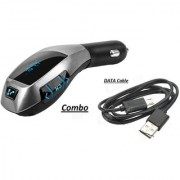 Combo of X5 Car Charger/Bluetooth with USB DATA CABLE