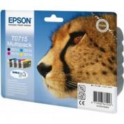 Epson Originale Stylus D 78 Cartuccia stampante (T0715 / C 13 T 07154022) multicolor Multipack (4 pz.), Contenuto: 7,4ml+3x5,5ml