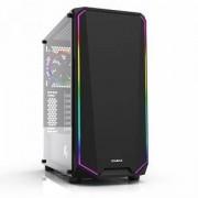 Кутия за настолен компютър ZALMAN K1 ATX Mid Tower, RGB осветление, черен, ZM-K1_VZ