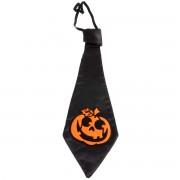Cravata neagra cu dovleac portocaliu