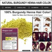 Herbal Burgundy powder hair coloring best Quality 100gm