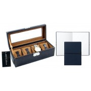 Set Cutie 4 Ceasuri Brown Leather by Friedrich si Note Pad Blue Hugo Boss