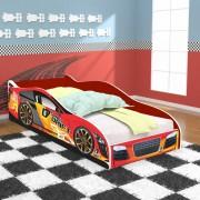 Cama Solteiro Carro Drift 188x88 cm - Vermelho / Vermelho - RPM Móveis