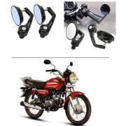 AutoStark 7/8 22cm Motorcycle Rear View Mirrors Handlebar Bar End Mirrors - Honda CD Dawn