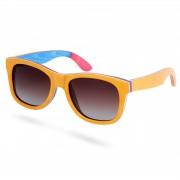 Paul Riley Polarisierte Sonnenbrille Aus Beigefarbenem Skateboard Holz