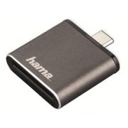 Hama USB 3.1 Type C UHS II OTG Card Reader, SD, grey
