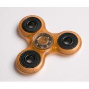 Fidget Spinner cu sclipici - portocaliu