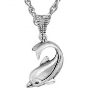MissMister Silver Plated Lovable Dolphin Fish Fashion Pendant Men Women