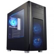 Кутия FSP CMT230 Gaming ATX Blue LED, ATX / Micro ATX / ITX, 2x USB 3.0, страничен прозорец, черна, без захранване
