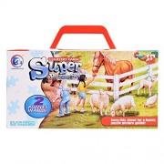 ThinkMax Country Farm Floor Puzzles Super Puzzle Set For Kids Children (Set of 2 Puzzles)