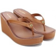 ALDO Women Tan Wedges