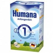 Set Lapte praf bebelusi de la nastere Humana 1 - 600 g