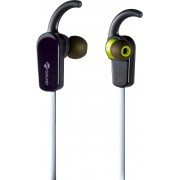 Meliconi 497426ba Auricolari Bluetooth Con Microfono E Tasto Di Risposta/volume Cuffie Sport Per Smartphone Colore Nero E Giallo - 497426ba Speak Active