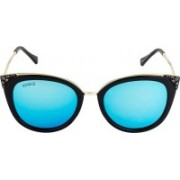 Voyage Cat-eye Sunglasses(Blue)