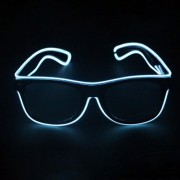 New Style LED Multi-color Fluorescent Glow Glasses EL Flashing Glasses Standard Type Random Color Delivery