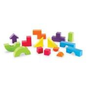 Set educativ de constructie cu forme geometrice 3D Mental Blox 360° Learning Resources