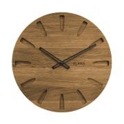 Velké dubové hodiny VLAHA vyrobené v Čechách s černými ručkami VCT1022