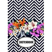 Sketchbook: Zigzag: 110 Pages of 7 X 10 Blank Paper for Drawing (Sketchbooks)