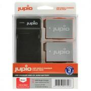 Jupio 2 st batterier motsv. Canon LP-E8, inkl. USB-laddare