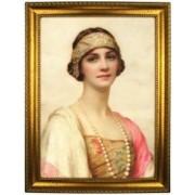 Портрет по фото *Девушка с жемчужным ожерельем*