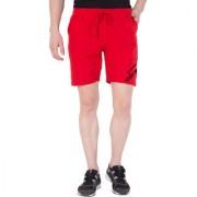 Cliths Men's Line Printed Short/Cotton Shorts For Men-Red