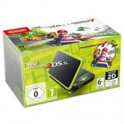 Consola New Nintendo 2DS XL Black + Lime Green + joc Mario Kart