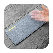 Keyboard Cover Protector de Teclado de Silicona Ultrafina para Teclado Logitech K380, Transparente