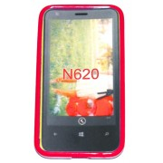 Силиконов гръб ТПУ за Nokia Lumia 620 Червен