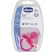 Бебешка залъгалка Nurs Phisio Soft - розова, Chicco, 2522039