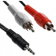 Transmedia A 49-5 L, Stereo Connecting Cable unshielded, 2x RCA-plug - 3,5 mm stereo plug, 5m