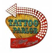 Tattoo Parlor Tattoos & Piercing 3D Zwaar Metalen Bord