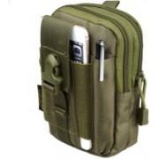 GOCART Universal Outdoor Tactical Molle Waist Bag, Military Hip Waist Belt Pack Cell Phone Holster Holder Bag Wallet Pouch Purse(Green)