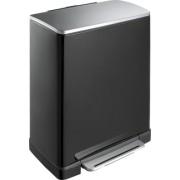 Кош за отпадъци с педал EKO E-Cube 50 л - черен