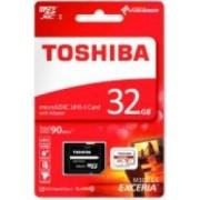 Card Memorie Toshiba Exceria MicroSDHC 32 GB Clasa 10 Adaptor SD 90MB/s