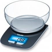 Beurer KS25 - Keukenweegschaal - 1,2 liter kom - 3kg - incl batterijen - Grijs