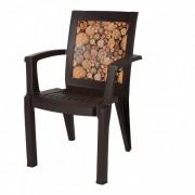 Scaun cu maner, imitatie lemn, Escalate, 59x59X87 cm