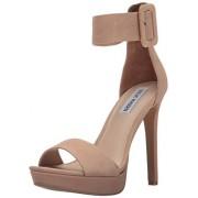 Steve Madden Women's Circuit Dress Sandal, Tan Nubuck, 8 M US