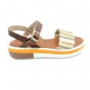 ESTRO Made in Italy Sandalo Fussbet Fascia Multicolor - Cuoio - - M-B76-19