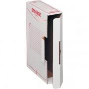 Scatole portaprogetti in cartone King Mec Storage - 140132 Scatole porta progetti in cartone 9 X 33 X 23 cm formato utile 8,5 X 31,5 X 22,3 cm dorso 9 cm con chiusura ad aletta di colore bianco in confezione da 32 Pz.