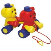 Ratna's Pull Along Twin Teddy for Toddlers to Play and Learn Walking